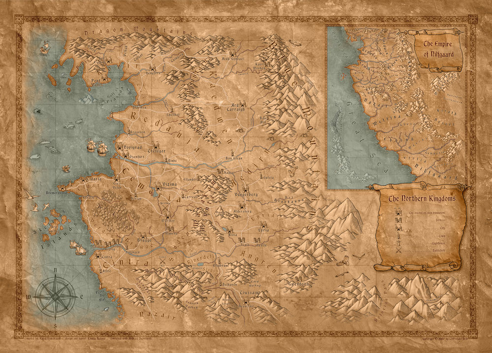 巫师3世界地图一览 猎魔人的世界有多大